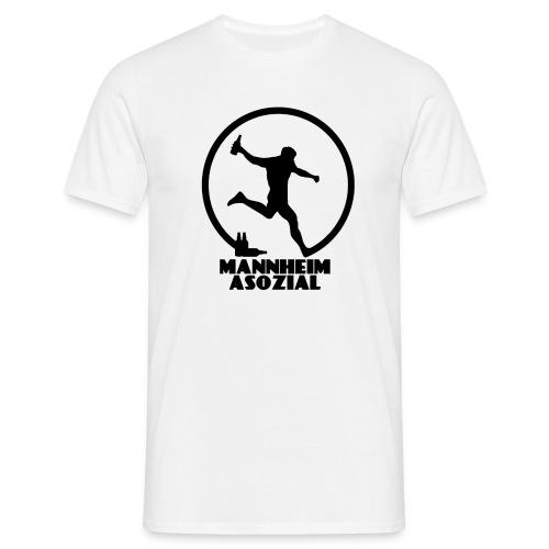 Mannheim Asozial White T - Männer T-Shirt