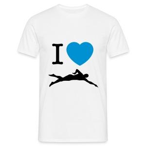 I LOVE SWIMMING - Maglietta da uomo