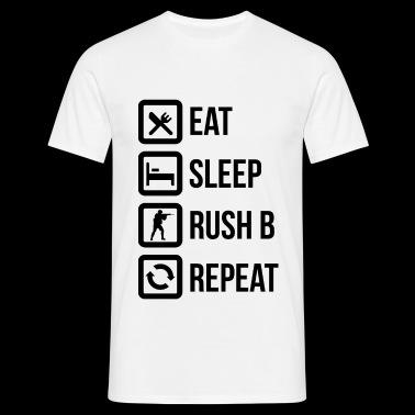 Äta, sova, Rush B och upprepa! - T-shirt herr