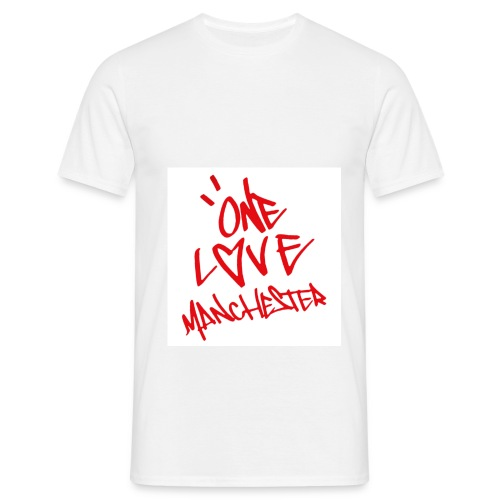 One love Manchester - Men's T-Shirt