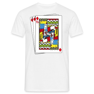 King Playing Card holding a Spraycan - Mannen T-shirt