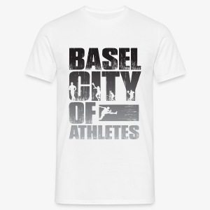 Basel City of Athletes B/W - Männer T-Shirt