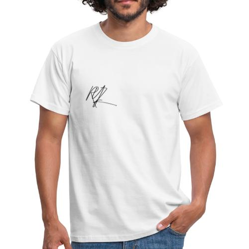 RYZ Unterschrift Logo (SCHWARZ) - Männer T-Shirt