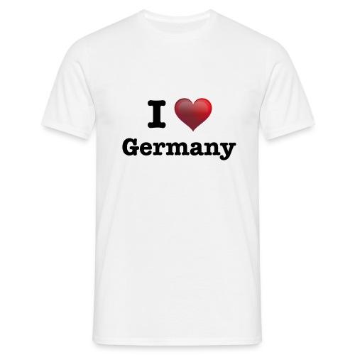 I Love Germany für echte Deutschland Fans - Männer T-Shirt