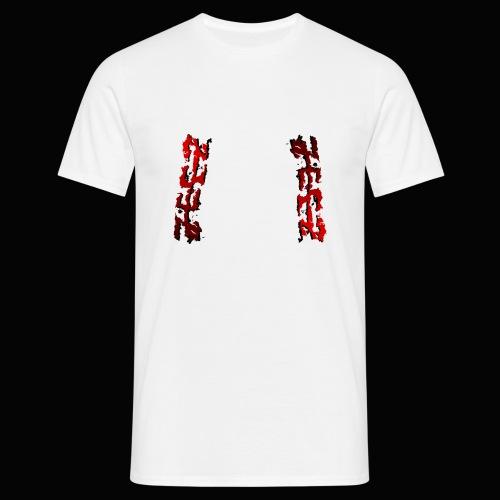 zeez rouge ombre noir abimé - T-shirt Homme