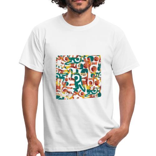 Pattern in graffiti look - Men's T-Shirt
