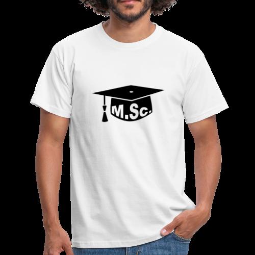 Doktorhut Master of Science M.Sc Doktorarbeit - Männer T-Shirt