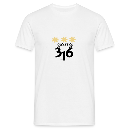 Three-Star 316 gang logo - T-shirt herr