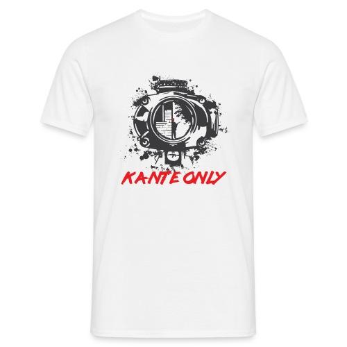 Kante Only (weiß) - Männer T-Shirt