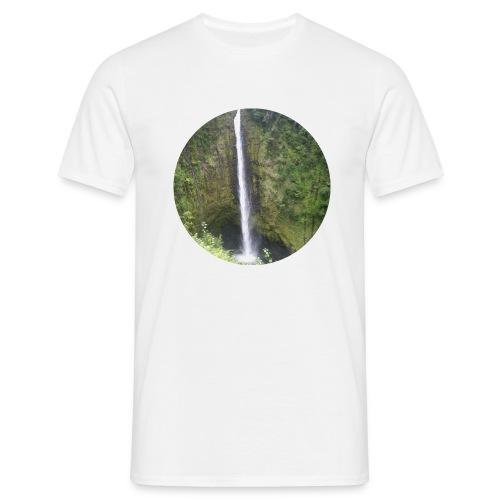 Hawaii Big Island Wasserfall - Männer T-Shirt