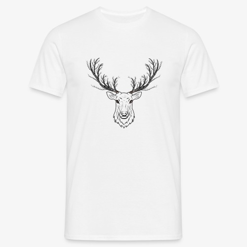 Stag with Tree Antlers - Men's T-Shirt