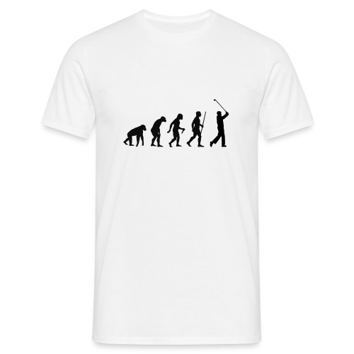Evolution of Man Golf - Herre-T-shirt