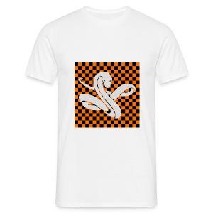 Wavy snake - Mannen T-shirt