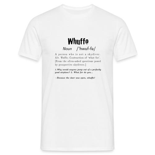 Whuffo black - Miesten t-paita
