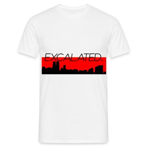 Excalated Skyline - Männer T-Shirt