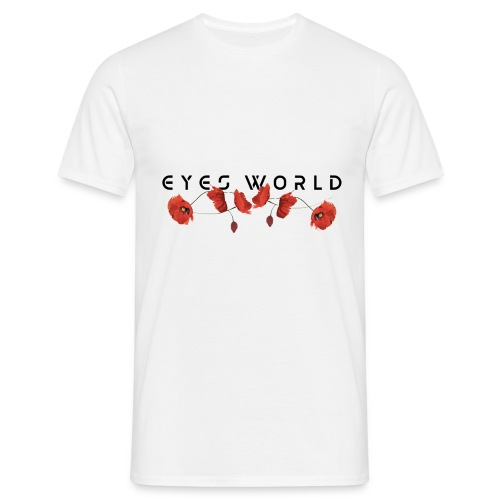 Eyes world flower - T-shirt Homme