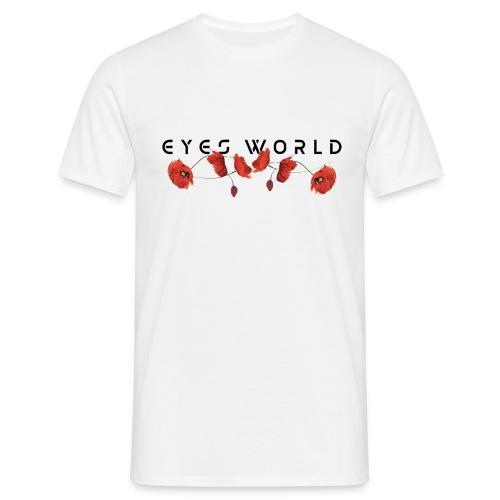 Eyes world flower - T-shirt Homme