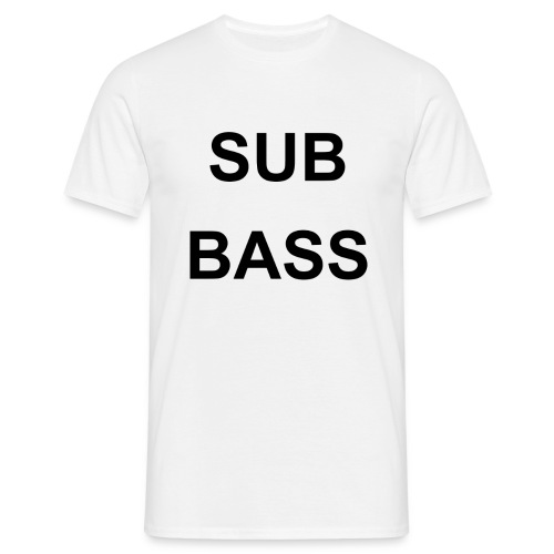 sub bass - Mannen T-shirt