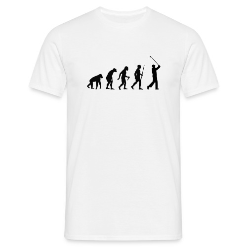 Evolution of Man Golf - Herre-T-shirt