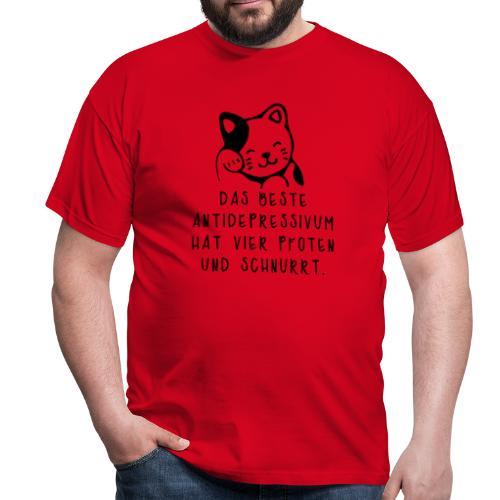 Katzen sind das beste Antidepressivum - Männer T-Shirt