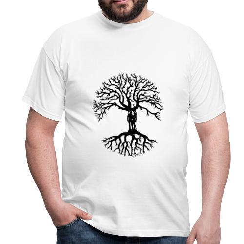 couple arbre de vie zen amour Tree of life noir - T-shirt Homme