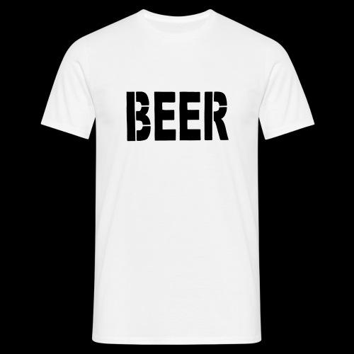 BEER Stencil Black - Männer T-Shirt