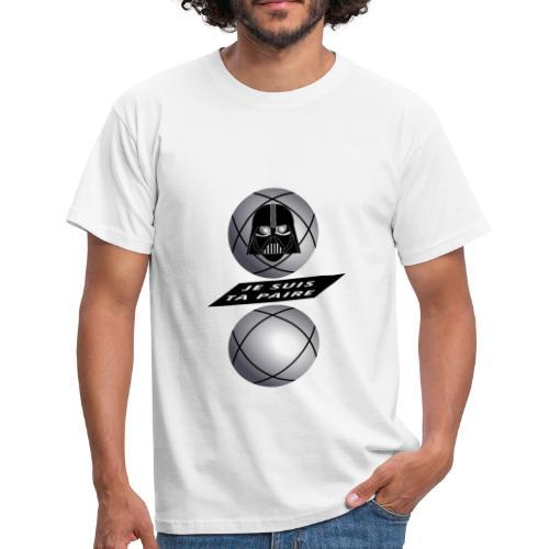 petanque je suis ta paire star war force avec toi - T-shirt Homme