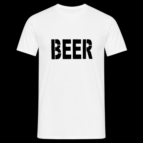 BEER Stencil Black - Männer T-Shirt