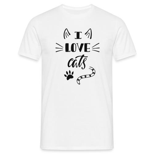 I love cats - Männer T-Shirt