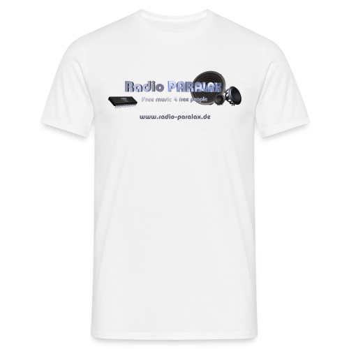 Radio PARALAX Facebook-Logo mit Webadresse - Männer T-Shirt