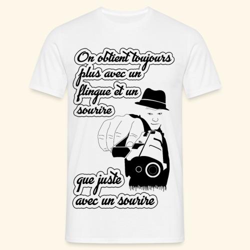 Combinaison d'un flingue et un sourire - T-shirt Homme