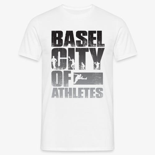 Basel City of Athletes B/W - Männer T-Shirt