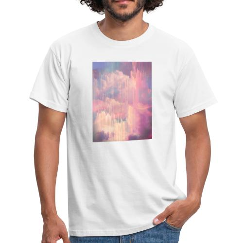 CANDY GLITCHED SKY - Men's T-Shirt