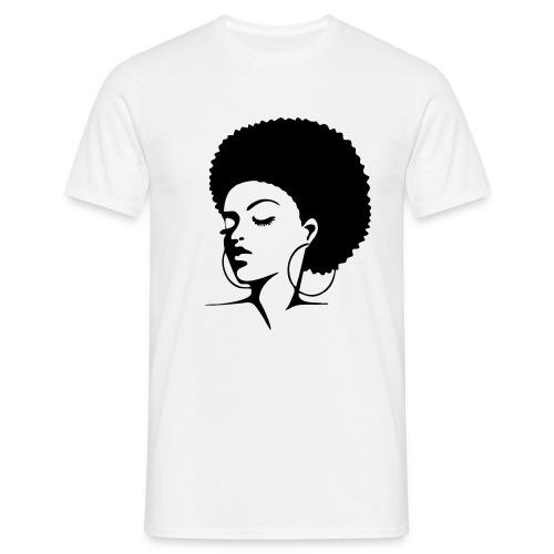 afro lady - Männer T-Shirt
