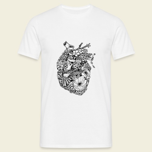 Kolibri Herz - Männer T-Shirt