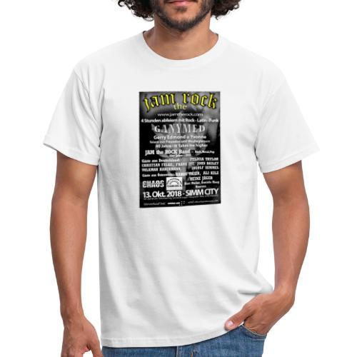 Plakat gold weiss - Männer T-Shirt