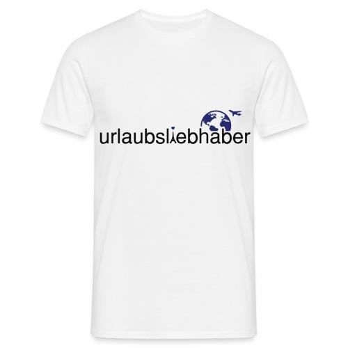 urlaubsliebhaber blau-schwarz dünne Schrift - Männer T-Shirt