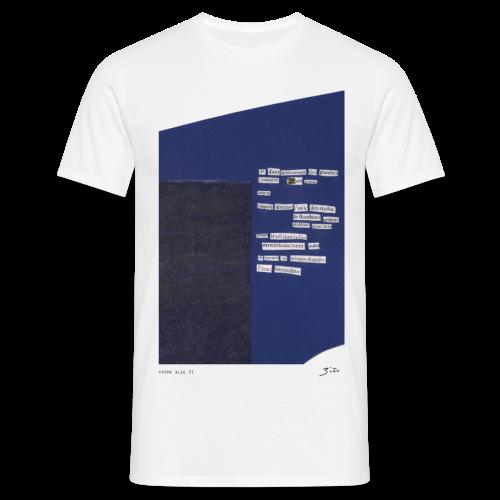 poème bleu 01 - T-shirt Homme