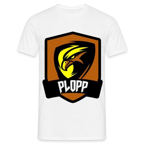 Plopp T-Shirt Emblem Vit - T-shirt herr
