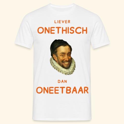 Liever onethisch dan oneetbaar - Mannen T-shirt