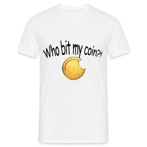 Bitcoin bite - Mannen T-shirt
