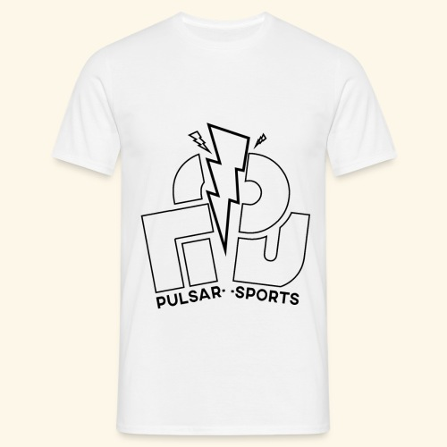 Lightning Striking through Team-Pulsar logo - Men's T-Shirt