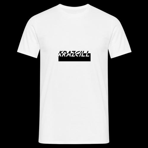 KrazeiLL Box Logo Black and White - Men's T-Shirt