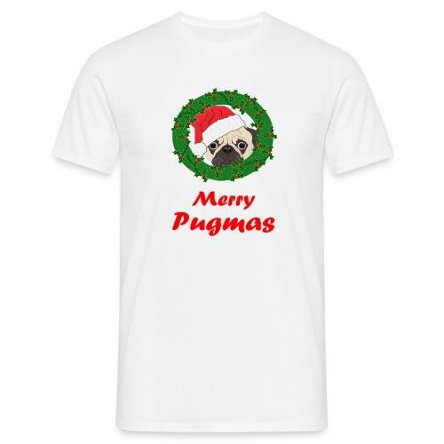 Merry Pugmas - Mannen T-shirt