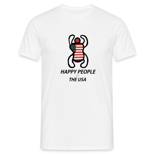 Happy People of the USA - Mannen T-shirt