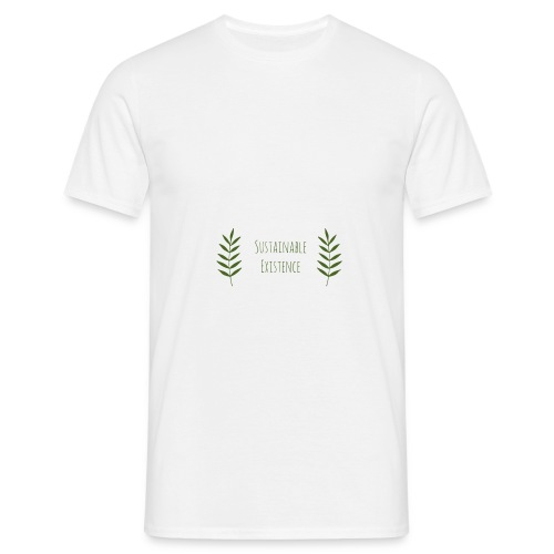 Sustainable Existence Logo (Green) - Men's T-Shirt