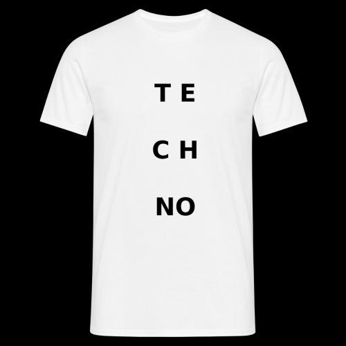 te ch no - Männer T-Shirt
