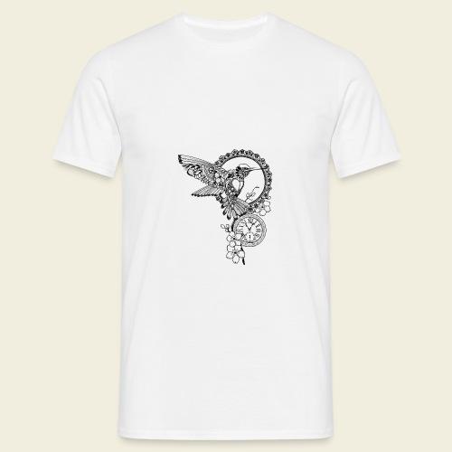 Kolibri-Uhr - Männer T-Shirt