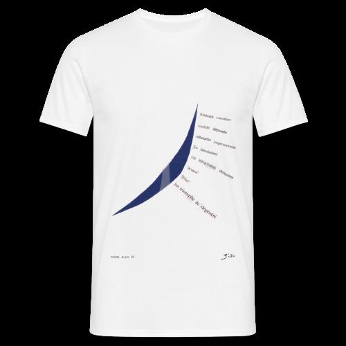 poème bleu 02 - T-shirt Homme