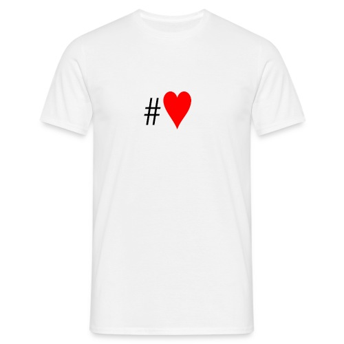 Hashtag Heart - Men's T-Shirt